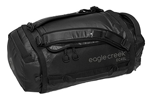 Eagle Creek Wasserabweisender Backpacker Cargo Hauler Duffel ultraleichte Reisetasche mit Rucksacktragegurten Sac de Voyage, 58 cm, 45 liters, Noir (Black)