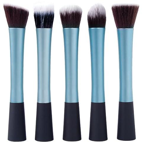 XCSOURCE® Kit de Pinceau maquillage Professionnel 5PCS Ombre à Paupière