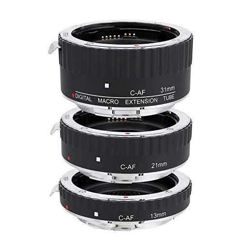 EBTOOLS Objektiv Adapterringe für Canon EF,Einstellbare MK C AF Objektivadapterringe (13 mm, 21 mm, 31 mm) für Canon EF/EF S Spiegelreflexkameras(MK C AF1 A)