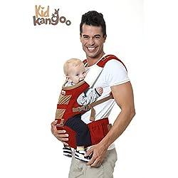 Mochila portabebés ergonómica para llevar a tu bebé manos libres - portabebes de diseño - mochila ajustable al tamaño de tu bebé - mejor portabebés cómodo de alta calidad - portador de bebé Premium - diseñado con materiales de alta calidad por KIDKANGOO