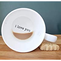 WITHPUNS Hidden Message Coffee Tea Mug valentines valentine's day gift for boyfriend husband wife girlfriend kids Birthday Anniversary I love you