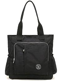 Waterproof Shoulder Bags , E Ekphero Casual Handbags Nylon Crossbody Shoulder Bag Purse Tote-Handbag
