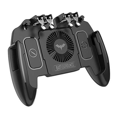 funnyfeng Mobile Game Controller,Telefoncontroller-Gamepad mit L1R1 6-Finger-Auslöser mit Wärmeableitungsfunktion für Shooter Sensitive und Aim-Auslöser-Controller für Android & iOS für MEMO