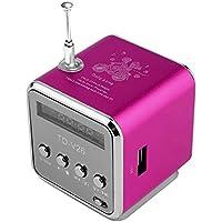 HUZHAO Tarjeta Micro portátil SD-TF-USB-Mini Reproductor de música estéreo para subwoofer Radio FM Coche doméstico