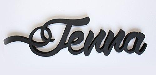 Kinder Namen Holzschilder, mw250woc, personalisierbar Tür Schilder, Jenna, Kinderzimmer Dekore, Custom Geschenke, Home Decor, Raum Vorlagen, Mia Workshop, den Verkäufer kontaktieren über Amazon-Nachricht, die Namen und Farbe Verkäufer Nachrichten