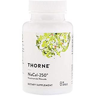Thorne Research - NiaCel-250 - Nicotinamide Riboside Supplement with ChromaDex Niagen - 60 Capsules
