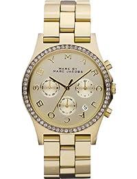 Marc Jacobs MBM3105 - Reloj para mujer con correa de acero, color dorado / gris