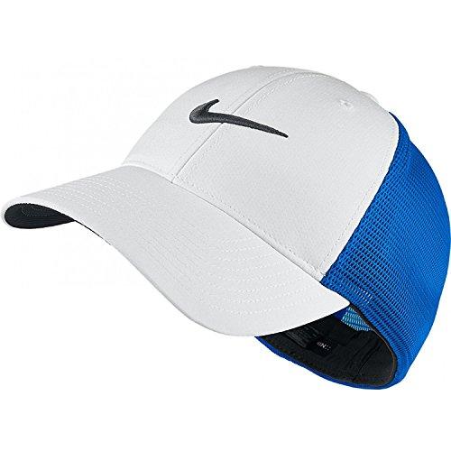 Nike Golf Legacy Netzrücken Dri-Fit Fitted Cap Hut, 727038 Nach Unisex M/L, Weiß/Karibik Ocean Blue (Blue Bekleidung Ocean)