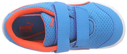 Puma Stepfleex Fs Mesh V Kids, Baskets Basses Mixte Enfant Bleu (Atomic Blue/White/Red Blast)