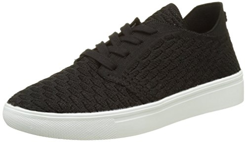 Esprit Lizette Lace Up, Sneakers Basses Femme Noir (001 Black)