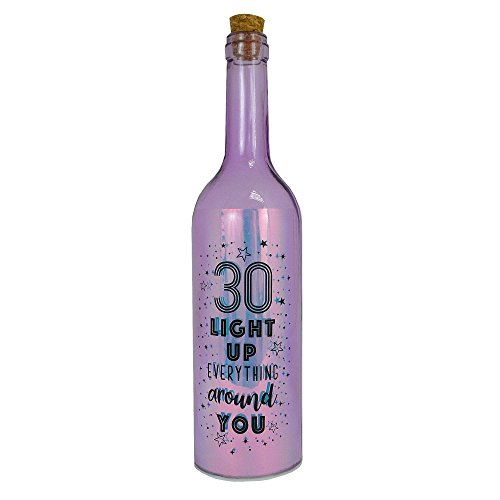Happy 30th Birthday Iridescent Light Up Bottle Gift