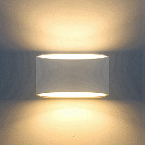 Aplique de Pared LED arriba y abajo Lámpara de escayola Moderna de interior 7W Blanco...