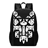 Deglogse Sac à Dos d'école, Cartable, Gamer Heart Laptop Computer Backpack 17 inch Large Casual Travel Daypack Laptop Bag for Women Men