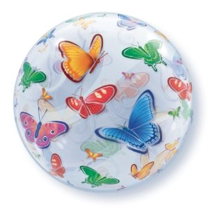 Globos de látex Qualatex 15607 - mariposas sola burbuja, 55,9 cm (22)