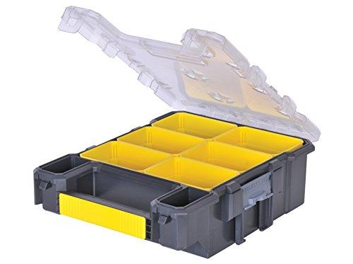 Stanley FatMax Werkzeug-Organizer / Aufbewahrungsbox (26x34x12cm, schmal, 6 herausnehmbare Boxen, Polycarbonat-Deckel, IP53 Abdichtung, Tragegriff) FMST1-72378 (Werkzeug-organizer Storage Box)