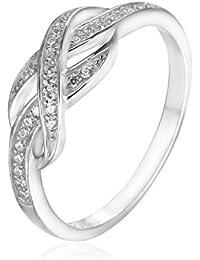 e66f265a350c JewelryPalace Anillo Infinito 0.1ct Circonita en plata de ley 925 Tamaño 11