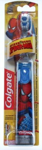 COLGATE SPIDER-MAN - Spiderman - Kinderzahnbürste - extra soft - für Jungen - Batteriebetriebene Zahnbürste - Batterie-Zahnbürste für eine gründliche Reinigung der Zähne – limitierte Edition - So macht das Zähneputzen richtig Spaß! - Ideal für kleine Spiderman`s! – Eine tolle Geschenkidee!!! Elektrische Zahnbürste Jungen