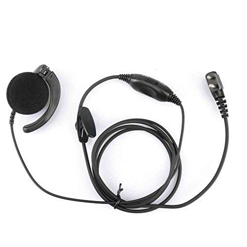 Demino A8 für Motorola PMLN4443AB Mag One Ear Empfänger mit In-Line  Mikrofon und PTT w/Vox-Ohr-Haken Hörmuschel Mic