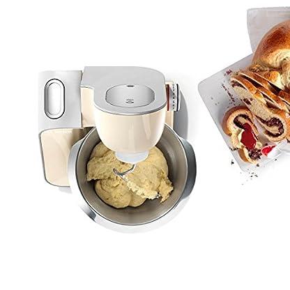 Bosch-MUM5-MUM58920-CreationLine-Kchenmaschine-1000-W-3-Rhrwerkzeuge-Edelstahl-splmaschinenfest-Rhrschssel-39-Liter-max-Teigmenge-27kg-Durchlaufschnitzler-3-Scheiben-Mixaufsatz-vanilla