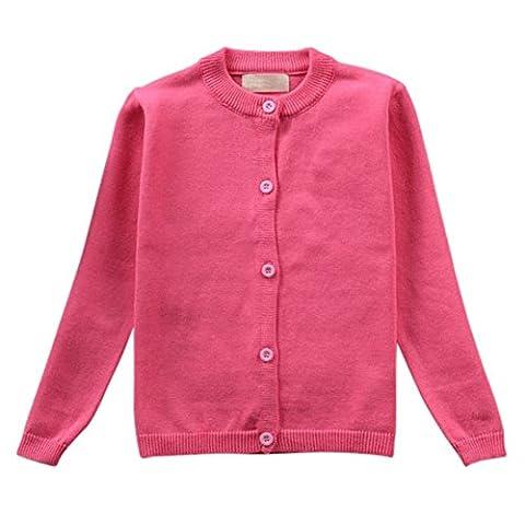 Brightup Printemps et automne Bébé Enfant Chandail Veste à manches longues En coton tricot