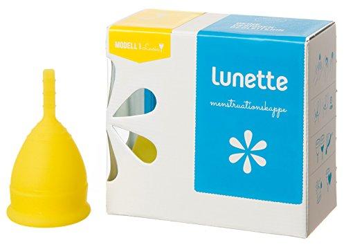 Lunette Menstruationskappe'Lucia' - gelb 1 - leichte bis normale Tage