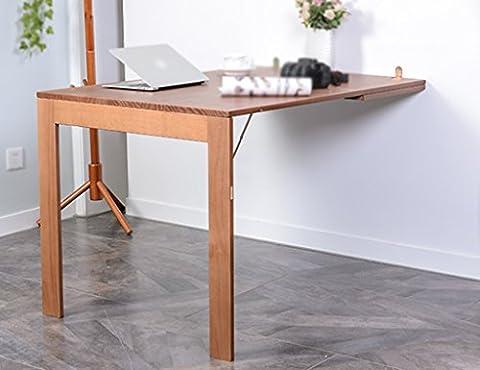 Anna Klapptisch Einfache Wand Gegen Die Tabelle Kreative Wand Schreibtisch Computer Schreibtisch Büro Schreibtisch Kann Fotos Größe Farbe Optional ( Farbe : Solid wood , größe : 80*120cm (Büro Platz Klapptisch)