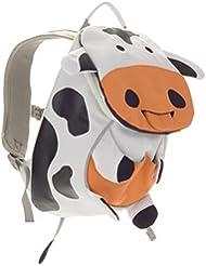 Affenzahn Kinderrucksack mit Brustgurt für 1-3 jährige Jungen und Mädchen im Kindergarten oder Kita der kleine Freund Antonia Kuh - Weiß, Schwarz
