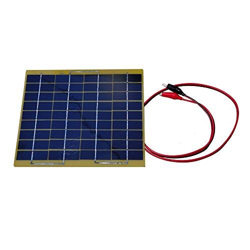 El panel de silicona monocristalino funciona en condiciones de luz solar y es resistente a la intemperie (antisalpicaduras) para mayor durabilidad. Diodo de bloqueo incorporado para evitar la descarga y seguridad inversa. El peso ligero hace que sea ...