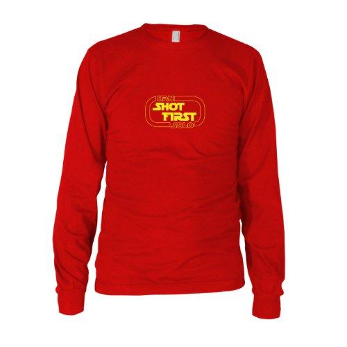 ren Langarm T-Shirt, Größe: XXL, Farbe: rot (Han Solo Kostüm Imperium Schlägt Zurück)