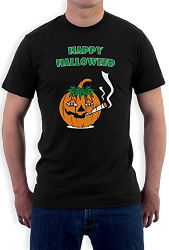 Glückliche Halloweed Schwarz XX-Large T-Shirt (Stoner Kostüm)