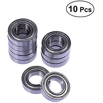 sourcing map 693ZZ Deep Groove Ball Bearing Double Shield 693-2Z 2080093 Pack of 10 3mm x 8mm x 4mm Carbon Steel Bearings