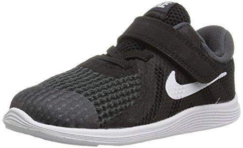 Nike Unisex-Kinder Revolution 4 (TDV) Laufschuhe, Schwarz (Black/White-Anthracite 006), 23.5 EU (Größe 5 Nike Mädchen Turnschuhe)