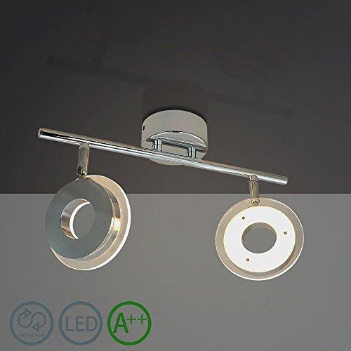 Hj 12w 2 Flammig Led Schwenkbar Deckenlampe Rund Moderne