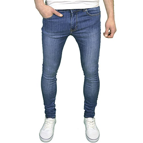 Enzo Mens Designer Branded Super Stretch Skinny Fit Jeans
