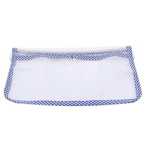 LnLyin Kühlschrank Grid Aufbewahrungstasche Küche Kühlschrank Hängen Aufbewahrungstasche Essen Organizer Box Beutel Kühlschrank Mesh Tasche, blau -