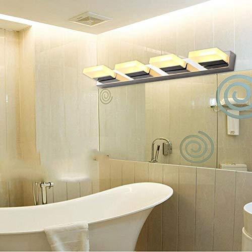 ATR Downlight 12W (Kopf kann gedreht Werden) 4 LED-Scheinwerfer-Badezimmer-Edelstahl-Acrylspiegel-Kabinett-Licht/Wandlampe/kosmetische Glühlampe eingeschlossen (Farbe: warmes Licht)