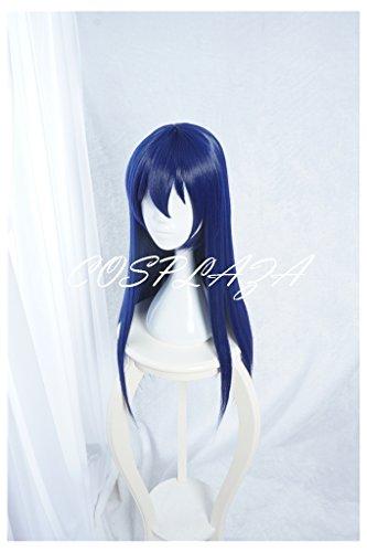 COSPLAZA Perücken Cosplay Wig lang Blau Mädchen Anime Halloween Haar