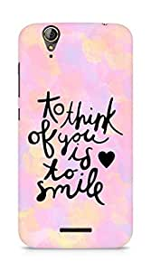 AMEZ to think of you is to smile Back Cover For Acer Z630S