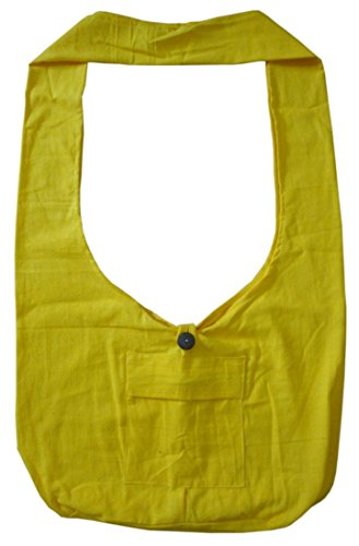 Lofbaz Donna Elefante Cotone Crossbody borsa Blu Solido Giallo