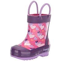Kamik Girls' Lovely Wellington Boots Pink Pin, 4.5 4.5 UK