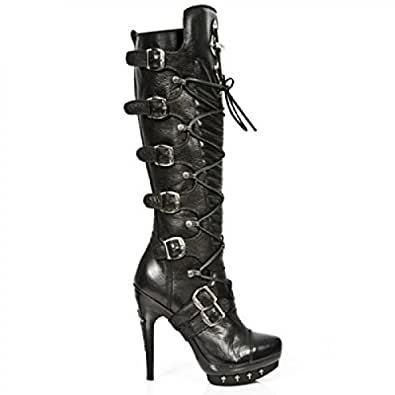 New Rock Punk Boots Women - Black - Euro 36 / UK 3.5