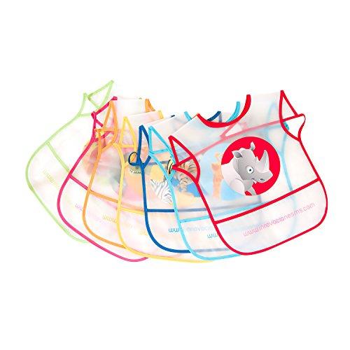Innovaciones MS 5060 - Babero plástico pack de 7 unidades, multicolor