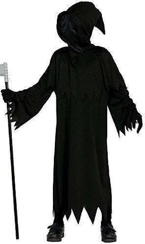 Mädchen Jungen Demented Geist Halloween Horror TV Buch Film mit Kapuze Kostüm Kleid Outfit 3-12 Jahre - 10-12 years (Mädchen Capelet)