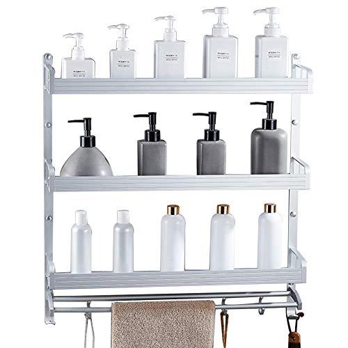 3 Tier Badezimmer Regal Dusche Caddy Aluminium Lagerregal für Küchenbedarf mit Handtuchhalter Badezimmer Regale (Size : 50 * 14 * 63.5cm) - 3-tier Bathroom Regal