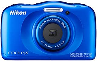 Nikon COOLPIX S33 Compact Digital Camera (13.2 MP, CMOS Sensor, 3x Zoom, 2.7 inch LCD) - Blue