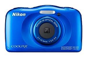 Nikon Coolpix S33 Digitalkamera (13,2 Megapixel, 3-fach opt. Zoom, 6,9 cm (2,7 Zoll) LCD-Display, USB 2.0, bildstabilisiert) blau