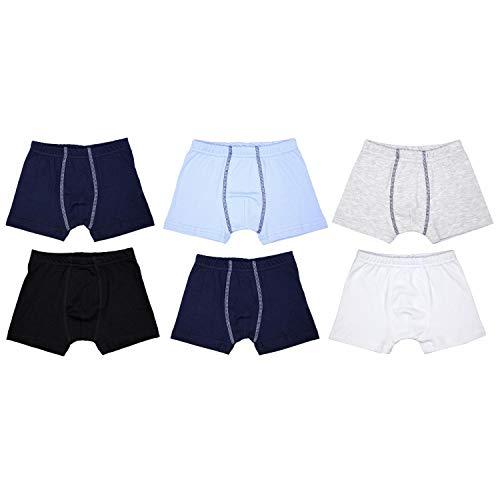 TupTam Jungen Unterhosen Slips o. Boxershorts 6er Pack, Farbe: Farbenmix 4, Größe: 104-110