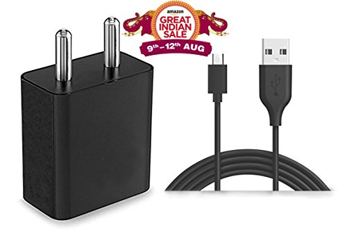 StuffHoods Charger For Maxwest Orbit 5400T / Maxwest Orbit 5400 T Charger Original Adapter Like Mobile Charger 2 Amp Mobile Charger Wall USB Charger Power Adapter Universal Fast Charger Android Smartphone Charger Battery Charger Smart Charger Hi Speed Travel Charger Best High Quality Lower Price Charger With 1.2 Meter Micro USB Charging Data Cable ( 2 Ampere , Black / White )