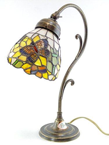 Lampada ottone brunito da tavolo,scrivania,lampade stile liberty con ...