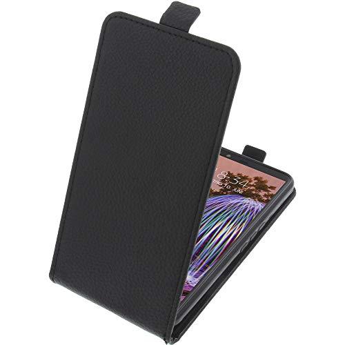 foto-kontor Tasche für JVC J20 Smartphone Flipstyle Schutz Hülle schwarz